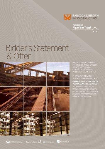 Bidder's Statement & Offer