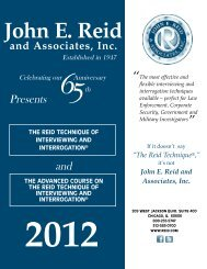 John E. Reid - The Reid Technique of interviewing and interrogation