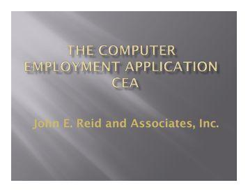 John E Reid and Associates Inc