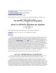 The PEOPLE Plaintiff and Respondent v Jimmy Lee BENSON Defendant and Appellant