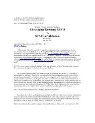 Christopher Dewayne REVIS v STATE of Alabama