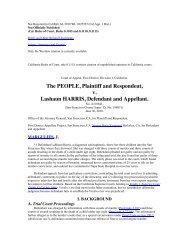 The PEOPLE Plaintiff and Respondent v Lashaun HARRIS Defendant and Appellant