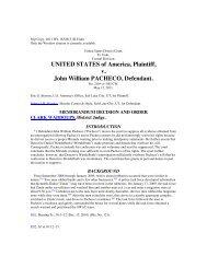 UNITED STATES of America Plaintiff v John William PACHECO Defendant