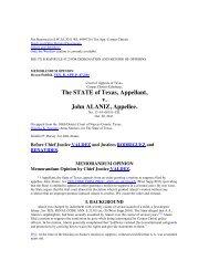 The STATE of Texas Appellant v John ALANIZ Appellee