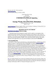 UNITED STATES of America v George Wesley ELLINGTON Defendant