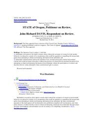 STATE of Oregon Petitioner on Review v John Richard DAVIS Respondent on Review