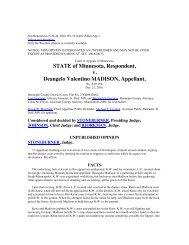 STATE of Minnesota Respondent v Deangelo Valentino MADISON Appellant