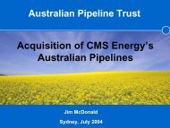 Acquisition of CMS Energy's Australian Pipelines