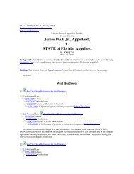 James DAY Jr. Appellant v STATE of Florida Appellee