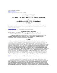 PEOPLE OF the VIRGIN ISLANDS Plaintiff v Auriel Devon FRETT Defendant