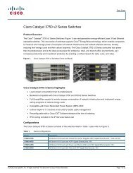 Cisco Catalyst 3750 v2 Series Switches