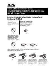 Smart-UPS ® Installation Guide 750/1000/1500 ... - eircomictdirect.ie