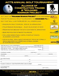 ACT's Annual Golf Tournament - Alliance of Construction Trades