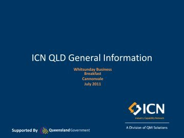 ICN QLD General Information - Enterprise Whitsundays