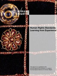 Human Rights Standards: Learning from Experience - The ICHRP