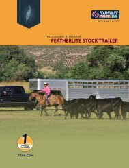 FEATHERLITE STOCK TRAILER