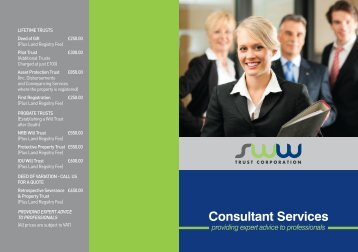 Consultant Services - SWW Trust Corporation