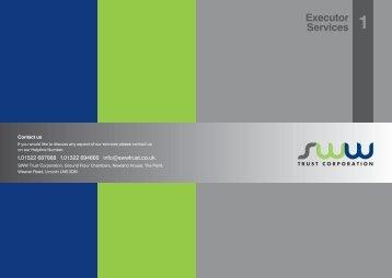 Executor Services 1 - SWW Trust Corporation