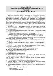 SPRAWOZDANIE Z DZIAŁALNOŚCI ... - Powiat Toruński