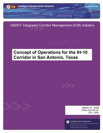Integrated Corridor Management Concept of Operations