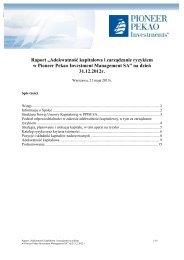 """Raport """"Adekwatność kapitałowa i zarządzanie ryzykiem w Pioneer ..."""