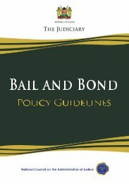 Bail and Bond Policy Guidelines
