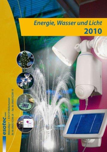 Energie, Wasser und Licht