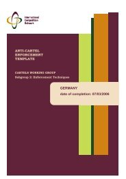ICN Anti-Cartel Enforcement Template - Bundeskartellamt