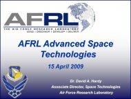 AFRL Advanced Space Technologies