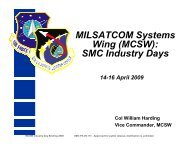 Wing (MCSW) SMC Industry Days