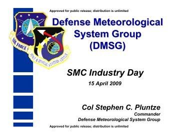 Defense Meteorological System Group (DMSG)