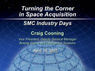 Turning the Corner in Space Acquisition