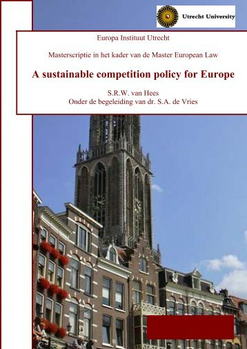 A sustainable competition policy for Europe