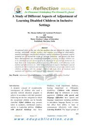 1. A Study of Different Aspects of Adjustment of ... - Edupublication