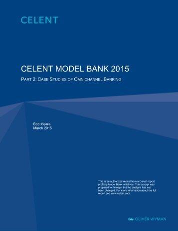 CELENT MODEL BANK 2015