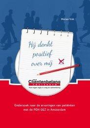 Onderzoek naar de ervaringen van patiënten met de POH GGZ in Amsterdam