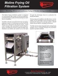Moline Frying Oil Filtration System