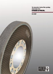 The innovative Carbon Fiber grinding wheel body from KREBS & RIEDEL HI-COMP