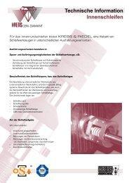 Technische Information Innenschleifen