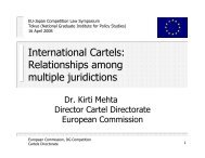 International Cartels - EU-Japan Centre for Industrial Cooperation