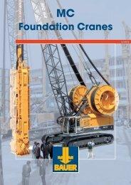 Foundation Cranes - BAUER-Pileco