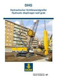 DHG Hydraulischer Schlitzwandgreifer Hydraulic diaphragm wall grab