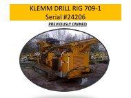 KLEMM DRILL RIG 709-1 Serial #24206