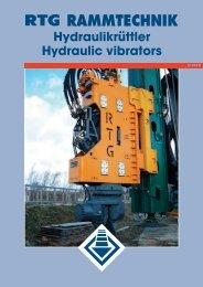 Hydraulikrüttler Hydraulic vibrators