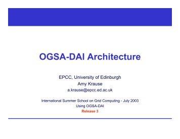 OGSA-DAI Architecture