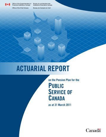 actuarial report - Office of the Superintendent of Financial Institutions