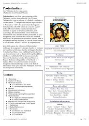 Protestantism - Wikipedia, the free encyclopedia
