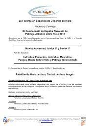 FEDH-C. ESPAÑA-Convocatoria ULTIMA