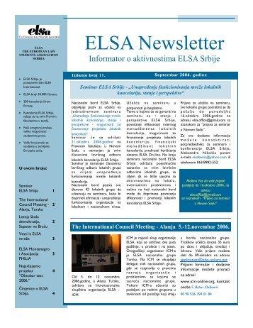 ELSA Newsletter