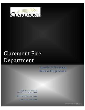 Claremont Fire Department